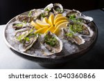Oysters Platter With Lemon And...