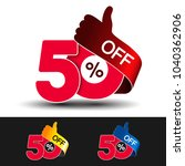 vector special sale offer. red... | Shutterstock .eps vector #1040362906
