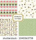 set of seamless abstract... | Shutterstock .eps vector #1040363758