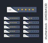 stylish five star rating...   Shutterstock .eps vector #1040364130