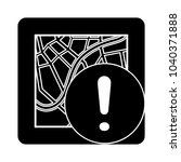 map warning vector symbol | Shutterstock .eps vector #1040371888