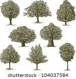 trees | Shutterstock .eps vector #104037584