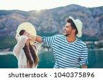 couple in love  enjoying the... | Shutterstock . vector #1040375896