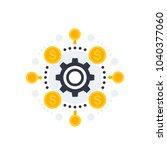 financial operations  financing ... | Shutterstock .eps vector #1040377060
