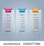 host pricing for plan website... | Shutterstock .eps vector #1040377486