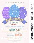 egg hunt banner template for... | Shutterstock .eps vector #1040378014