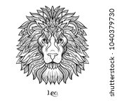 leo  lion zodiac sign.... | Shutterstock .eps vector #1040379730