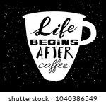 quote coffee typography set.... | Shutterstock .eps vector #1040386549