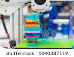 the result of a error on a 3d... | Shutterstock . vector #1040387119