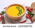 traditional indian cuisine.... | Shutterstock . vector #1040388700