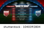 football scoreboard and global... | Shutterstock .eps vector #1040392804