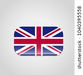 british flag design with... | Shutterstock .eps vector #1040395558