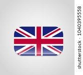 british flag design with... | Shutterstock .eps vector #1040395558