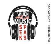 music tee graphic design ... | Shutterstock .eps vector #1040397010