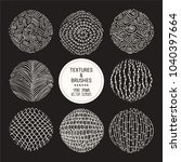 hand drawn textures   brush... | Shutterstock .eps vector #1040397664