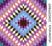 seamless pattern turkish carpet ... | Shutterstock .eps vector #1040399869