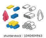 set of towel color vector... | Shutterstock .eps vector #1040404963