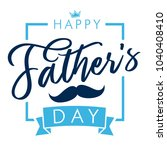 happy father s day lettering...   Shutterstock .eps vector #1040408410