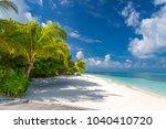 maldives landscape. tropical... | Shutterstock . vector #1040410720