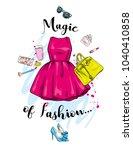 a set of fashionable women's... | Shutterstock .eps vector #1040410858