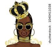 beautiful african girl in the...   Shutterstock .eps vector #1040411038