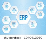 enterprise resource planning ... | Shutterstock .eps vector #1040413090