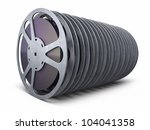 film reel strip  clipping path... | Shutterstock . vector #104041358