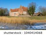 bederkesa castle at the town of ... | Shutterstock . vector #1040414068