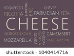 cheese. word cloud concept on... | Shutterstock . vector #1040414716