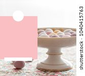 pretty square easter image ... | Shutterstock . vector #1040415763