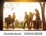 six young entrepreneur... | Shutterstock . vector #1040418838