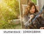beautiful young teenage woman...   Shutterstock . vector #1040418844
