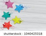 holi flat lay isolated on gray... | Shutterstock .eps vector #1040425318