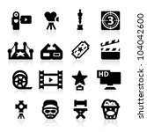 film industry icons set  ... | Shutterstock .eps vector #104042600