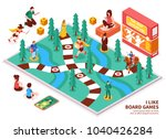 board game isometric... | Shutterstock .eps vector #1040426284