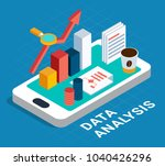 data analysis abstract poster... | Shutterstock .eps vector #1040426296