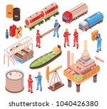 oil gas industry isometric... | Shutterstock .eps vector #1040426380