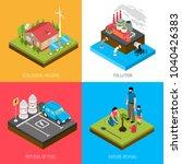 ecology isometric design... | Shutterstock .eps vector #1040426383