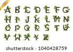 collection  letter a b c vector ... | Shutterstock .eps vector #1040428759