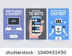building your own chatbot. say... | Shutterstock .eps vector #1040431450