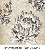 monotone floral background | Shutterstock . vector #104043248