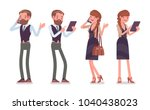handsome male and pretty female ... | Shutterstock .eps vector #1040438023