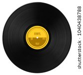 gramophone vinyl lp record with ...   Shutterstock . vector #1040438788