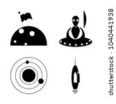 icon cosmos with space  ufo ...   Shutterstock .eps vector #1040441938