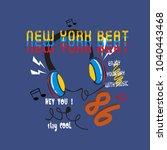 new york beat t shirt printing... | Shutterstock .eps vector #1040443468