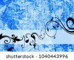 floral background design | Shutterstock . vector #1040443996