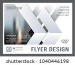 minimal presentation brochure... | Shutterstock .eps vector #1040446198