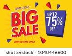 sale banner. big sale banner... | Shutterstock .eps vector #1040446600