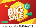 sale banner. big sale banner... | Shutterstock .eps vector #1040446624