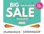 sale banner. big sale banner... | Shutterstock .eps vector #1040446639
